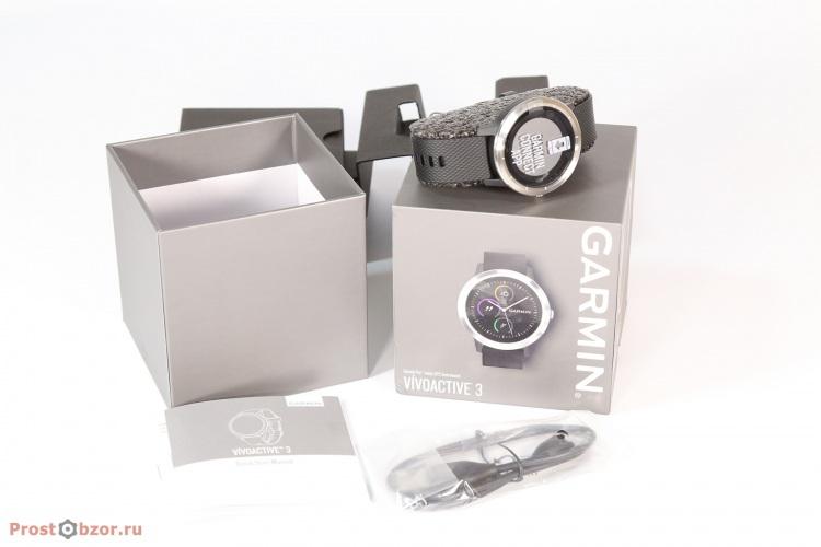 Распаковка часов Garmin Vivoactive 3