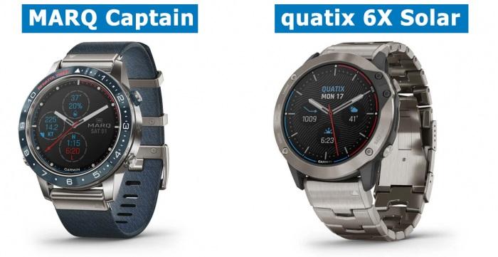 Модели премиум часов MARQ Captain и Quatix 6X Solar
