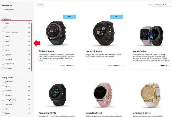 Выбор часов Garmin по серии моделей