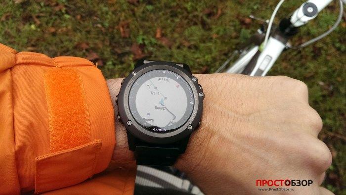 GPS-навигация Fenix 3 - пройденный маршрут