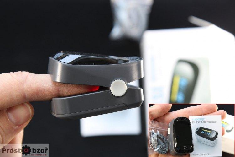 портативный датчик Пульсоксиметр на палец