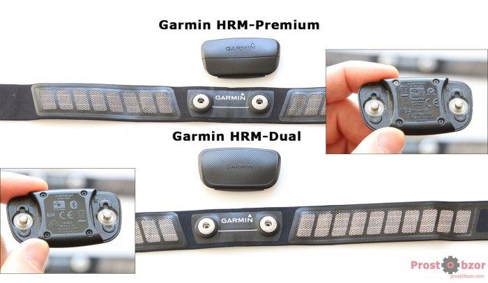 Сравнение площадок Крепление ремня для нагрудного датчика пульса Garmin HRM-Dual