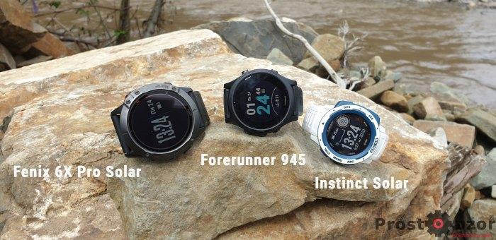 Сравнение часов Fenix 6X Pro Solar -  Forerunner 945 - Instinct Solar