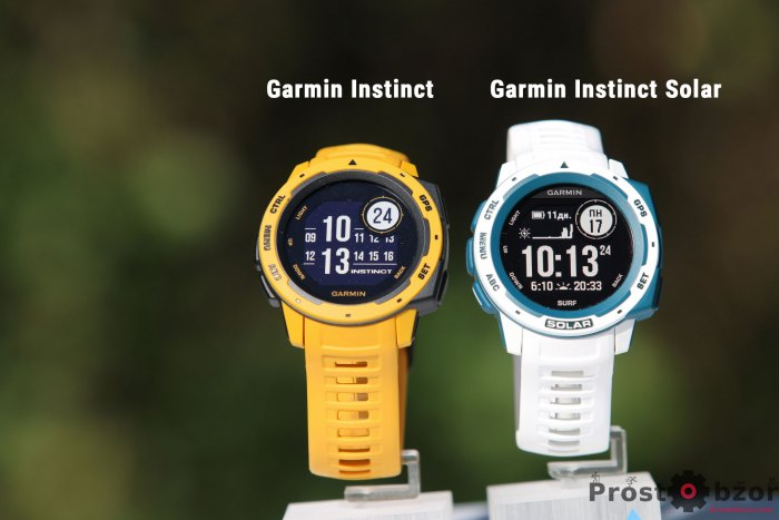 Внешний вид моделей Garmin Instinct и Instinct Solar Surf Edition