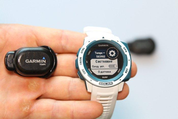 Подключение к датчику температуры Garmin Teme  - в часах Garmin Instinct Solar