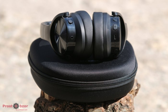Регулировка уровня громкости Mixcder E9