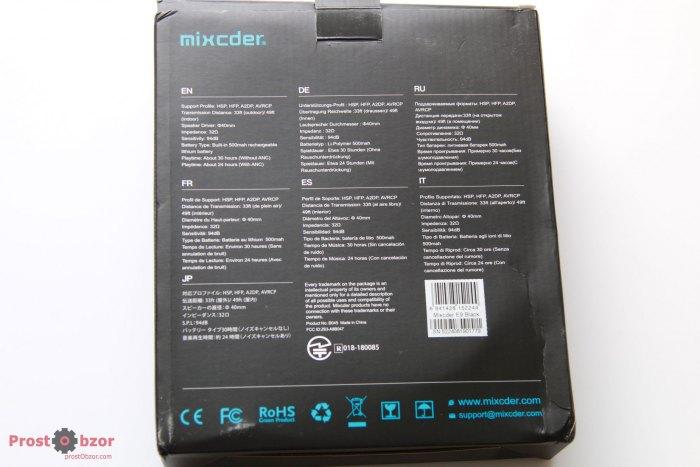 Спецификация наушников Mixcder E9