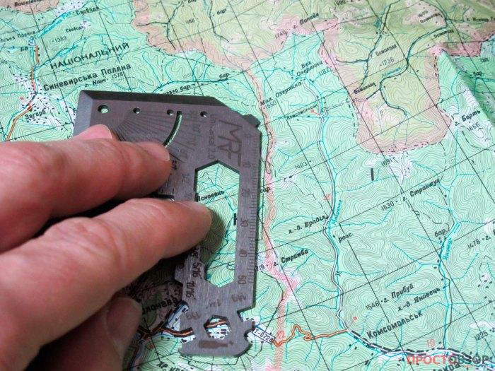 Использование линейки для карт