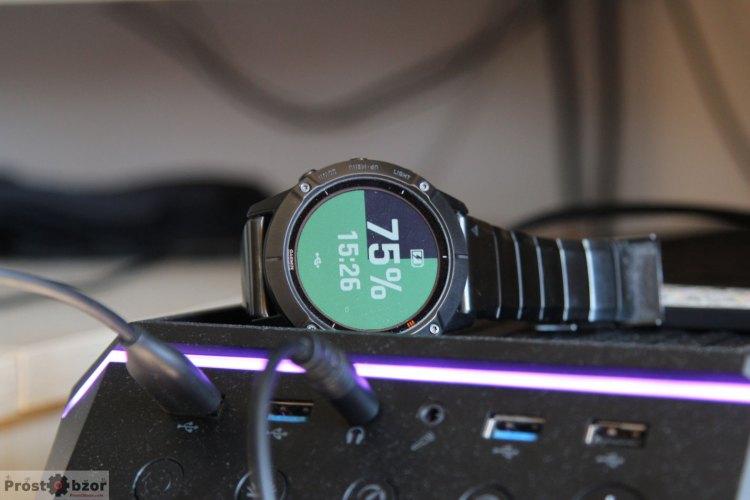 Подключение часов Garmin Fenix 6X к ПК с помощью USB кабеля