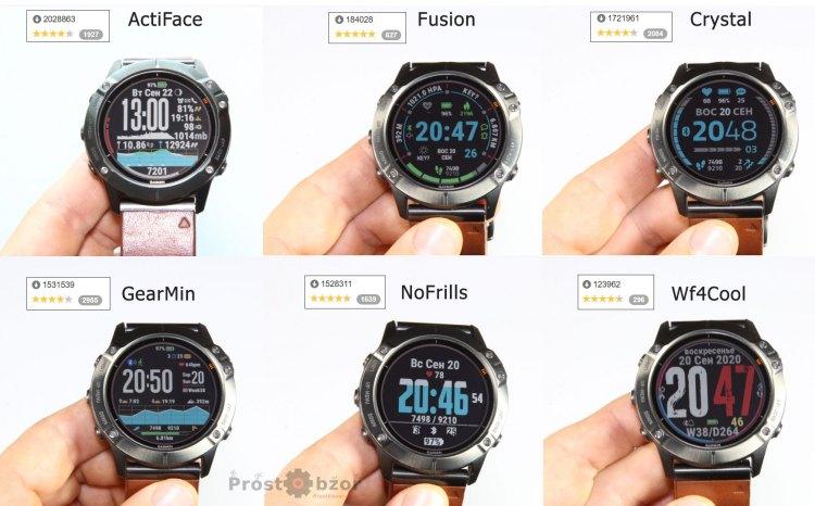 Рейтинг цифровых циферблатов часов Garmin - часть 1