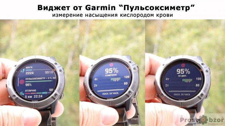 Показания пульсоксиметра в часах Garmin Fenix 6X Pro Solar
