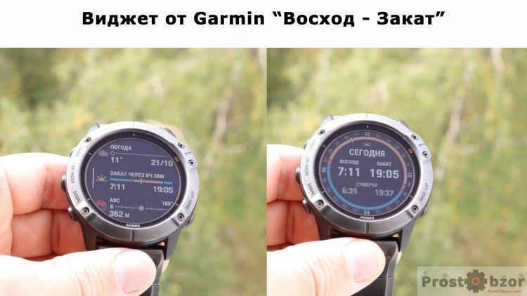 Виджет Garmin  Восход - Закат