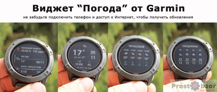 Виджет Погода для часов Garmin