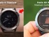 Сравнение титанового безеля часов Garmin quatix 6 Titanium