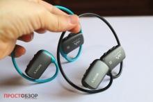 Вид снаружи MP3 - плейера Sony-Walkman-NWZ-WS613-4GB