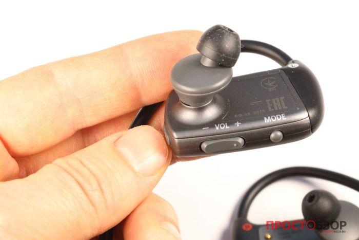 Левое ухо плеера Sony Walkman NWZ-WS613