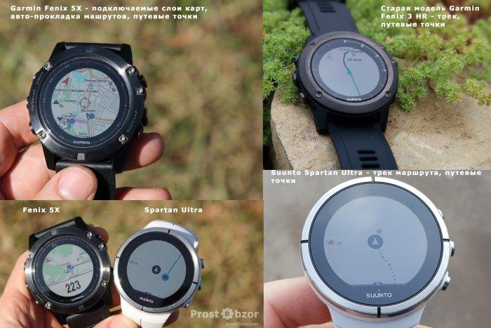 Сравнение картографии часов Garmin Fenix 5X - Suunto Spartan Ultra