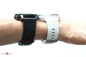 Сравнение часов на руке - Suunto vs Garmin - вид сбоку