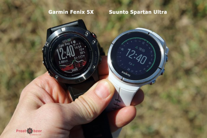 Сравнение дисплеев часов на солнечном свете Suunto vs Fenix
