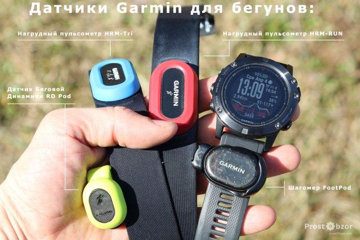 Родные датчики Gamrin для бега - варианты