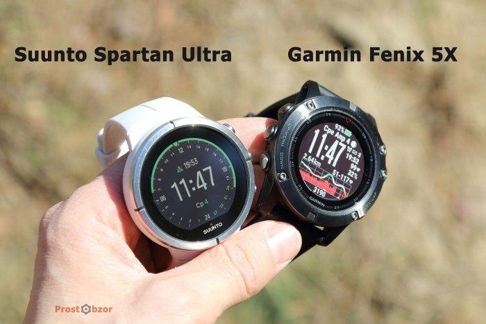 Корпуса и форма часов Suunto Spartan Ultra и Garmin Fenix 5X