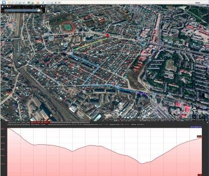 Эталонный трек согласно Google Earth
