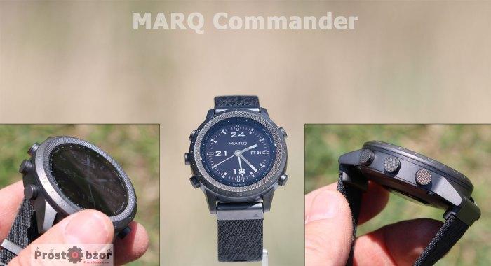 Кнопки и безель часов MARQ Commander