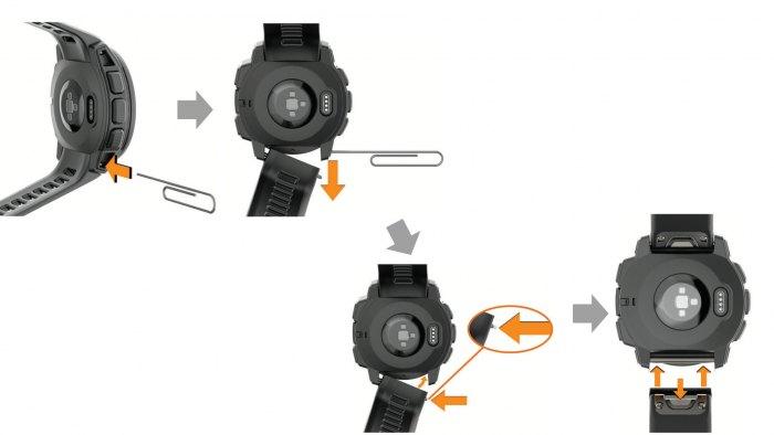 Как снять ремешок Garmin Instinct Tactical Edition
