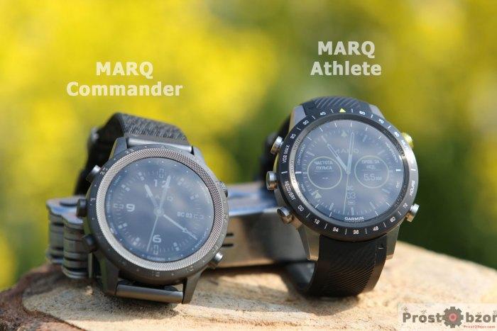 сравнение часов Marq Athlete и MARQ Commander