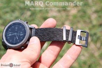 Жаккардовый ремешок часов MARQ Commander с застежками