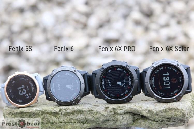 Внешний вид часов серии Fenix 6