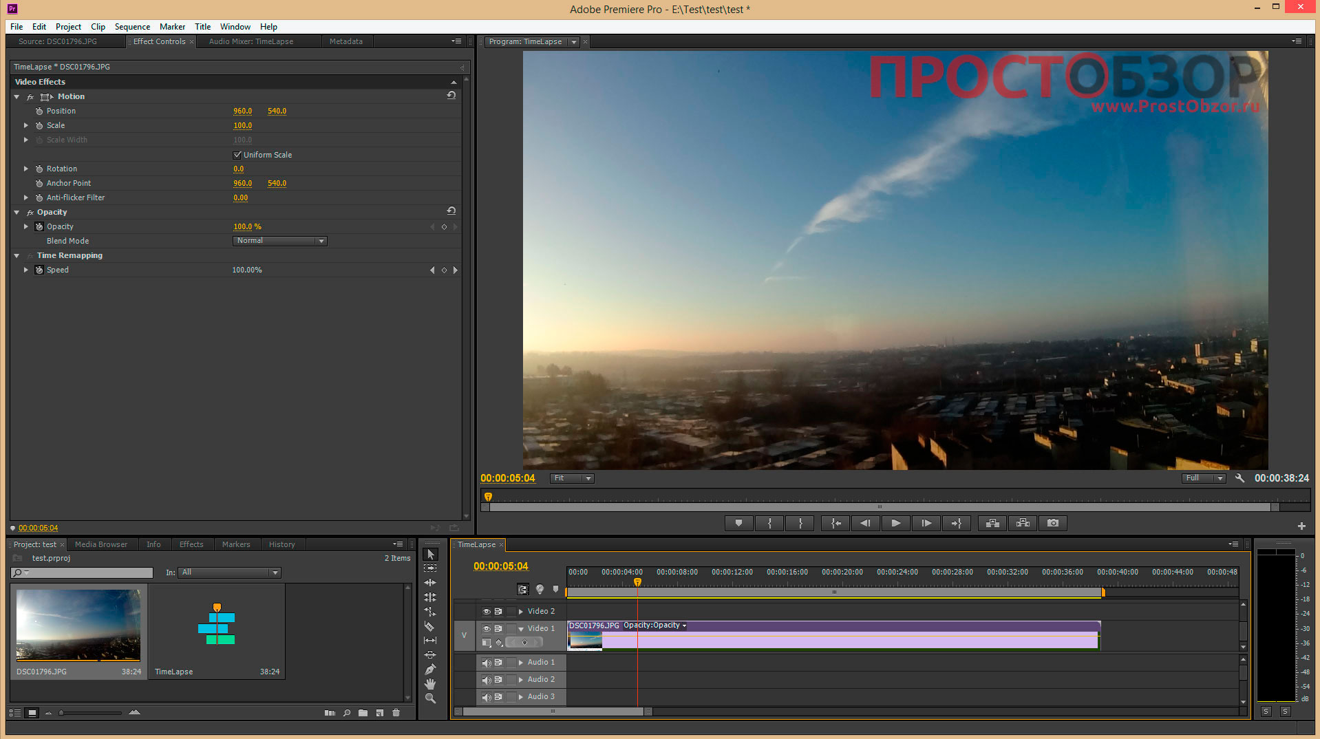 how to make a timelaps adobe premiere pro