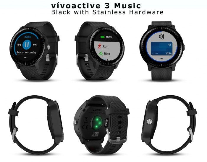 Музыкальные часы Garmin Vivoactive 3 Music