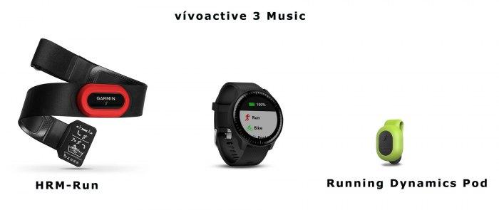 Поддержка специальных датчиков для бега в часах Garmin Vivoactive 3 Music