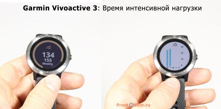 Интенсивная активность в часах Garmin Vivoactive 3