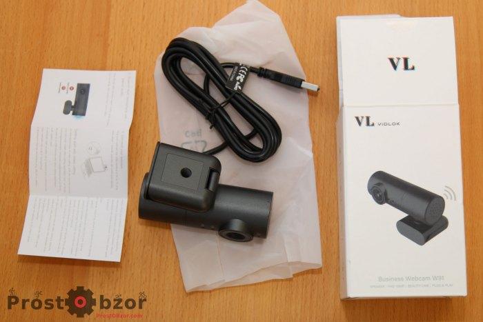 Распаковка веб камеры VL Vidlok W91