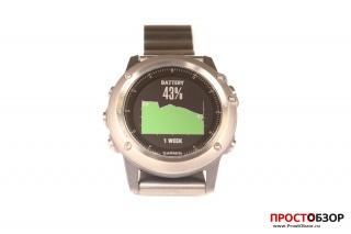 Garmin Fenix 3 Battery Gauge Виджет - потребление за неделю