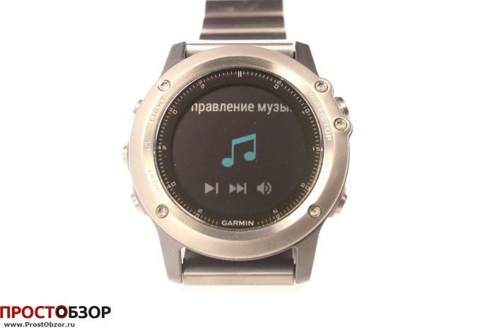 Garmin Fenix 3 - виджет управления музыкой
