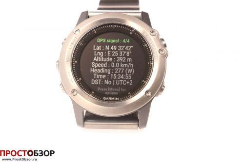Garmin Fenix 3 - виджет PositionPlus данные GPS