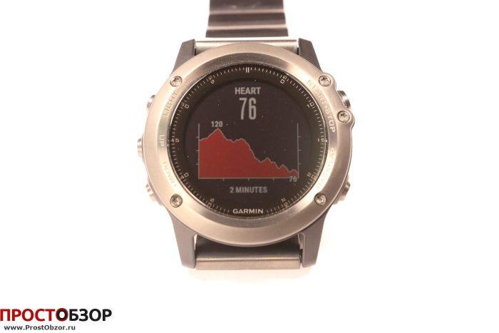 Garmin Fenix 3 - виджет Heart rate chart