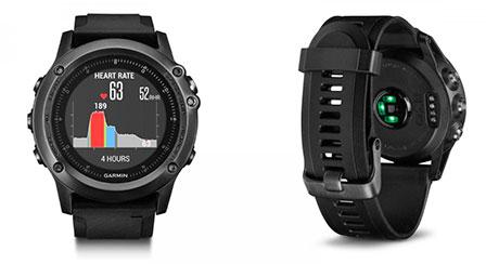 спортивные часы с пульсо-метром Garmin-Fenix-3-HR