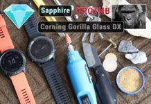 Тест царапин стекла Sapphire против Gorilla Glass DX