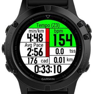 дата-поле Zone Runner для бегунов в часах Garmin