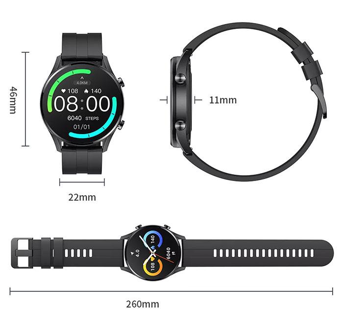 Размеры часов iMiLabs W12